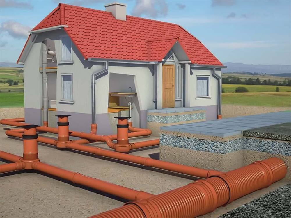 Элементы внешней канализации